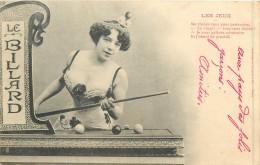 THEMES - JEUX - Les Jeux - Le Billard - Me Voulez Vous Pour Partenaire... - Cartes Postales