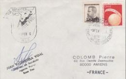 CHILE  BASE ANTARTICA PRESIDENTE FREI  9/02/66 - Timbres
