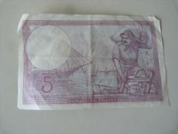 Billet France 5 Francs - 1871-1952 Antiguos Francos Circulantes En El XX Siglo