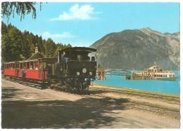TRAIN Autriche - EISENBAHN Österreich - ACHENSEE - Zahnradbahn Und Schiffsstation Seespitz - Tirol - Gares - Avec Trains