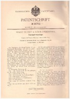 Original Patentschrift -  Franz Guisez In Köln - Lindethal , 1894 , Tourniquet - Hosenträger !!! - Herr