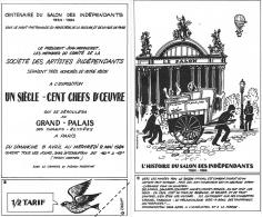✸ Ticket D'entrée—Centenaire Du Salon Des Indépendants—1984 ✸ - Eintrittskarten
