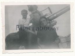 P58 -  Marins Marine Nationale et canon - photo ancienne