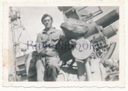 P58 -  Marin Marine Nationale et canon - photo ancienne