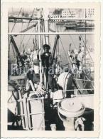 P58 -  Arri�res de navires, Marine Nationale - vue de d�tail - photo ancienne