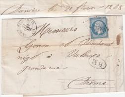 ARDECHE LAC 1868 LA VOULTE SUR RHONE GC T16 + BOITE MOBILE BM = LETTRE DE DUNIERE (SUR EYRIEUX) ARDECHE - Storia Postale