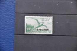 G 069 + NORFOLK ISLANDS 1960 RED TAILED TROPIC BIRD SPECIMEN MNH ** POSTFRIS NEUF - Norfolk Eiland