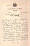 Original Patentschrift - Carl Hugo Teicher In Dippoldiswalde I.S. , 1894 , Heuwender , Landwirtschaft , Agrar !!! - Maschinen