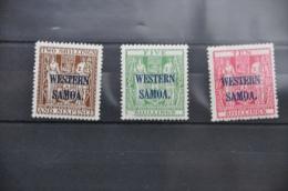 G 077 + WESTERN SAMOA OVERPRINT HINGED * PLAK(REST) - Samoa