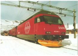 "TRAIN Norvège - TOG Norge - FINSE (gare) - SBB CFF FFS Re 460 066 ""Finse"" - Photo Christian Frauenknecht - Gares - Avec Trains"