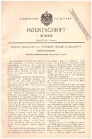 Original Patentschrift - Andor Palencsar Und Th. Fischer In Budapest , 1894 , Riemen - Streckmaschine , Gerberei !!! - Maschinen