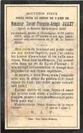 Xavier-François-Joseph Jallet - Chevetogne 1910, Dans La 59e Année - Ep. De Marie-Octavie Elias - Overlijden