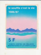 AUTOCOLLANT -  LE SOUFFLE C´EST LA VIE - 1986/1987 - TUBERCULOSE - - Adesivi