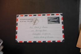 Australia Aerogramme 10d Aircraft Mailed To The US 1960  A04s - Aerogrammes
