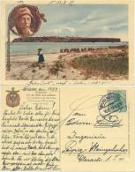 AK Helgoland 1912, Farbige Karte, Alter Seemann, Strand, Leute - Helgoland