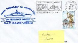B.A.P. JULES VERNE MISSION HERACLES - Flamme Mécanique Illustrée   12/01/2002 - Postmark Collection (Covers)