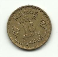 1952 - Marocco 10 Francs, - Marocco