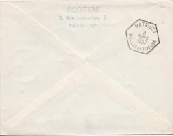 1957, LETTRE , PREMIERE LIAISON NOUVELLE CALEDONIE-WALLIS, NOUMEA-MATA.UTU /2209 - Wallis Und Futuna