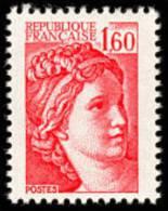 France N° 2155 ** SABINE DE GANDON Le 1.60 Fr Rouge - France