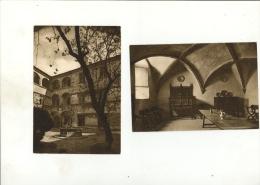 MANIERO DEI CHALLANT DI ISSOGNE Valle D'Aosta : X2 Cards Sala Da Pranzo + Fonte In Ferro Battuto - Italia