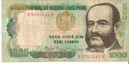 BILLETE DE PERU DE 1000 INTIS DEL AÑO 1981  (BANKNOTE) - Perú