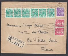 SUISSE - 1935 -  LETTRE DE LUCERNE EN RECOMMANDE A DESTINATION DE LA FLECHE - FR - - Switzerland