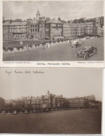 Lot Of 2 Postcards Of Folkestone : 2 Views Of Royal Pavilion Hotel ( Automobile Traction ) - Folkestone