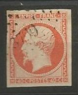 France - Empire - N°16 Orange Vif - Obl.PC3799 Beaucourt (Haut-Rhin) - 1853-1860 Napoléon III