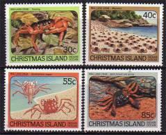 Ile Christmas. Crabes Rouges De Terre. Serie 4 T-p Neufs **  Yvert 185/88. - Christmas Island