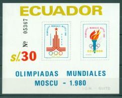 Ecuador - 1980 Moscow Block MNH__(TH-11508) - Equateur