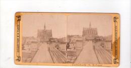 Photo Stéréo , Cathédrale De Cologne   , Coll. E H , Série Allemagne Et Le Rhin - Photos Stéréoscopiques