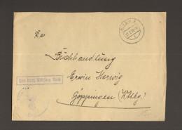 DR Fliegerhorst Eger 1939 Umschlag Mit Stempel Frei D.Ablösung Reich - Sudètes