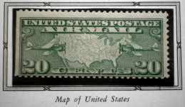 UNITED STATES USA AIRMAILS MAP OF US 20 C 1927 MNH WITH FALZ  Perf. 11 - Air Mail