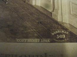 Albumen Photo  FALL RIVER LINE Paddle Steamer, Ship PILGRIM  -  Ladies Saloon- Copyright 1883 GUBELMAN Jersey City 163 - Boats