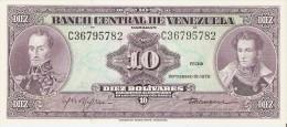 BILLETE DE VENEZUELA DE 10 BOLIVARES DEL AÑO 1979  (BANK NOTE) - Venezuela