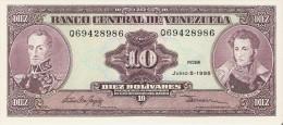 BILLETE DE VENEZUELA DE 10 BOLIVARES DEL AÑO 1995  (BANK NOTE) SIN CIRCULAR-UNCIRCULATED - Venezuela