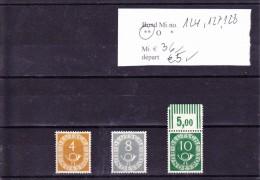 (r)   ** 124-127-128- - Unused Stamps