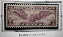 UNITED STATES USA AIRMAILS WINGED GLOBE EMBLEM OF AIR SERVICE 5 C 1930  MNH  Perf. 11 - Air Mail