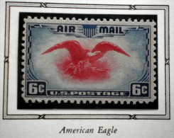 UNITED STATES USA AIRMAILS AMERICAN EAGLE 6 C 1938 MNH WITH FALZ  Perf. 11 - Air Mail