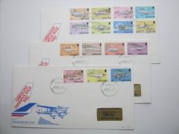 1982, Flugzeuge, Satzbrief Auf 3 FDC - Gibraltar