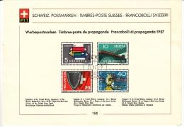 Sammelblätter / Feuilles De Collection N° 155 / Propagande 1957. Cote 35.- Laissé à 15 % - Lotti/Collezioni