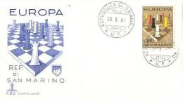 SAN MARINO  1965 EUROPA CEPT FDC /ZX/ - 1965