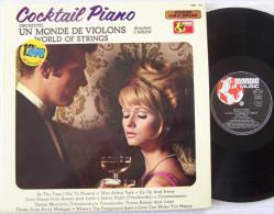 COCKTAIL PIANO LP Un Monde De Violon World Of Strings Direction CARLINI EX EX - Musicals