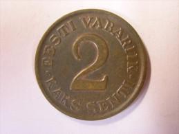 Estland Estonia Estonie 2 Senti Coin 1934 - Estonie