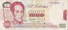 BILLETE DE VENEZUELA DE 1000 BOLIVARES DEL AÑO 1995 (BANKNOTE) - Venezuela