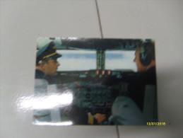 LUFTHANSA Cockpit Europa Jet Viaggiata TImbro Fiumicino Aereoporto - 1946-....: Moderne
