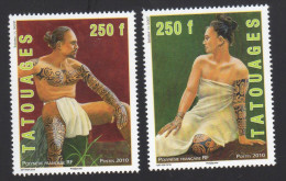 POLYNESIE FRANCAISE: Poste N°902/903 Tatouages NEUFS** SUPERBES. - Polynésie Française