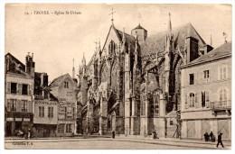 Cp, 10, TROYES, Eglise St Urbain, écrite Et Voyagé En 1917 - Troyes
