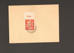 DR Mi.Nr.859 OR-Stück Gestempelt 16.10.43 Stuttgart Stadt D.Auslandsdeutschen Auf Blanko-Karte - Allemagne