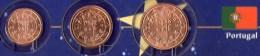 Kleinmünzen-Set EURO Portugal 2002-2013 Stg 5€ Der Prägeanstalt Lissabon Kleinmünzen-Satz With 1, 2, 5C. Coins Of Lisboa - Portugal
